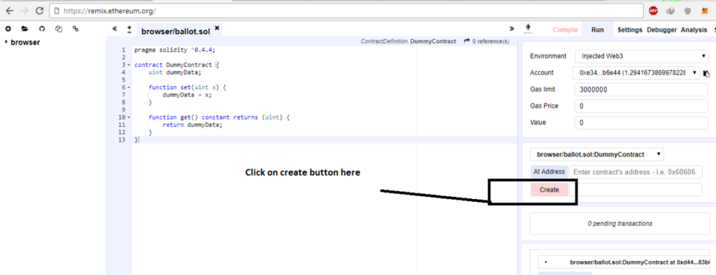 Go to run tab and click Create button.