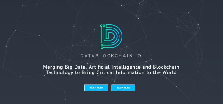 DATABLOCKCHAIN revolutionary  platform – Merging Big Data, AI and Blockchain Technology
